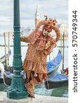 venice  italy   february 27 ... | Shutterstock . vector #570749344