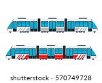 intercity passenger train... | Shutterstock .eps vector #570749728