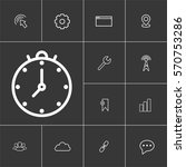 clock. linear internet icons...