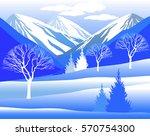 vector illustration. winter... | Shutterstock .eps vector #570754300