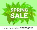 spring sale. banner advertising.... | Shutterstock .eps vector #570758590