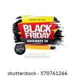 black friday sale banner | Shutterstock .eps vector #570761266