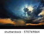thundercloud with possible... | Shutterstock . vector #570769864