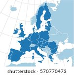 europe map with the european... | Shutterstock .eps vector #570770473
