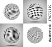 dotted sphere. abstract 3d... | Shutterstock .eps vector #570773530