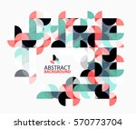 abstract circle geometric... | Shutterstock .eps vector #570773704
