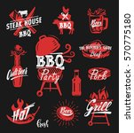 color bbq symbol vector... | Shutterstock .eps vector #570775180