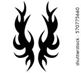 tattoo tribal vector designs.... | Shutterstock .eps vector #570775660