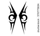 tribal tattoos design element.... | Shutterstock .eps vector #570775834