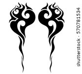 tattoo tribal vector design... | Shutterstock .eps vector #570781534