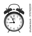 black bell clock  alarm clock ... | Shutterstock . vector #570782059
