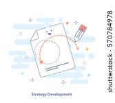 strategy development outline... | Shutterstock .eps vector #570784978