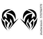 tattoo tribal vector designs... | Shutterstock .eps vector #570786970