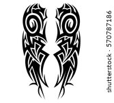 tribal pattern tattoo art deco  ... | Shutterstock .eps vector #570787186