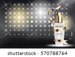 skin toner bottle tube template ... | Shutterstock .eps vector #570788764
