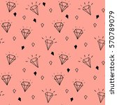 vector pattern with diamonds.... | Shutterstock .eps vector #570789079
