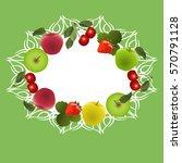 vector illustration. frame made ... | Shutterstock .eps vector #570791128