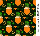 i love irish. holiday seamless... | Shutterstock .eps vector #570791164