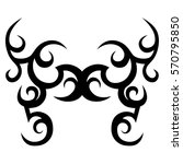 tattoo tribal lower back vector.... | Shutterstock .eps vector #570795850