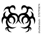 tribal tattoos design element.... | Shutterstock .eps vector #570795874
