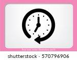 clock icon vector. | Shutterstock .eps vector #570796906