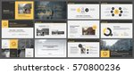 yellow and grey elements for... | Shutterstock .eps vector #570800236
