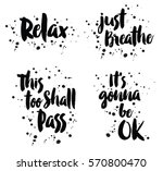 relax  just breathe  this too... | Shutterstock .eps vector #570800470