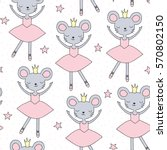 seamless ballerina mouse... | Shutterstock .eps vector #570802150