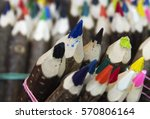 colored pencils made of twigs... | Shutterstock . vector #570806164