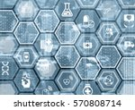 electronic e healthcare blue... | Shutterstock . vector #570808714