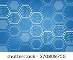 blockchain blue vector... | Shutterstock .eps vector #570808750