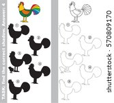 cock with different shadows to... | Shutterstock .eps vector #570809170