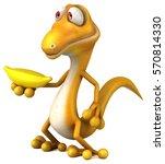 fun lizard   3d illustration | Shutterstock . vector #570814330