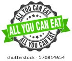 all you can eat. stamp. sticker.... | Shutterstock .eps vector #570814654