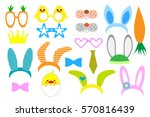 easter photo booth and... | Shutterstock .eps vector #570816439