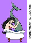 the image of a mermaid bathed... | Shutterstock .eps vector #570820588