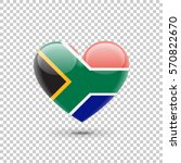 south african flag heart icon...   Shutterstock .eps vector #570822670