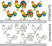 the educational kid matching... | Shutterstock .eps vector #570826570