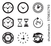 clock icon isolated. time logo  ... | Shutterstock .eps vector #570831793