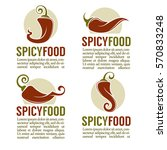 hot chili pepper logo  icons ... | Shutterstock .eps vector #570833248