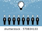 business people combining their ... | Shutterstock .eps vector #570834133