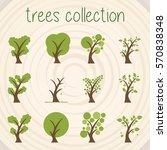 trees selection | Shutterstock .eps vector #570838348