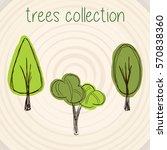 trees selection | Shutterstock .eps vector #570838360