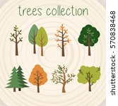 trees selection | Shutterstock .eps vector #570838468