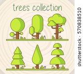 trees selection | Shutterstock .eps vector #570838510