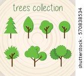 trees selection | Shutterstock .eps vector #570838534