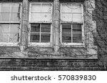old school windows with vines... | Shutterstock . vector #570839830
