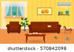 living room interior in bright...