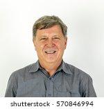 portrait of friendly smiling... | Shutterstock . vector #570846994