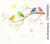 invitation card with enamored... | Shutterstock .eps vector #570848584